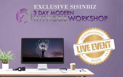 Exclusive Sisinbiz 3 Day Hypnosis Workshop
